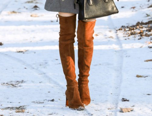 Fashion blogger Veronika Lipar of Brunette From Wall Street sharing the best winter shoes to wear to office this winter