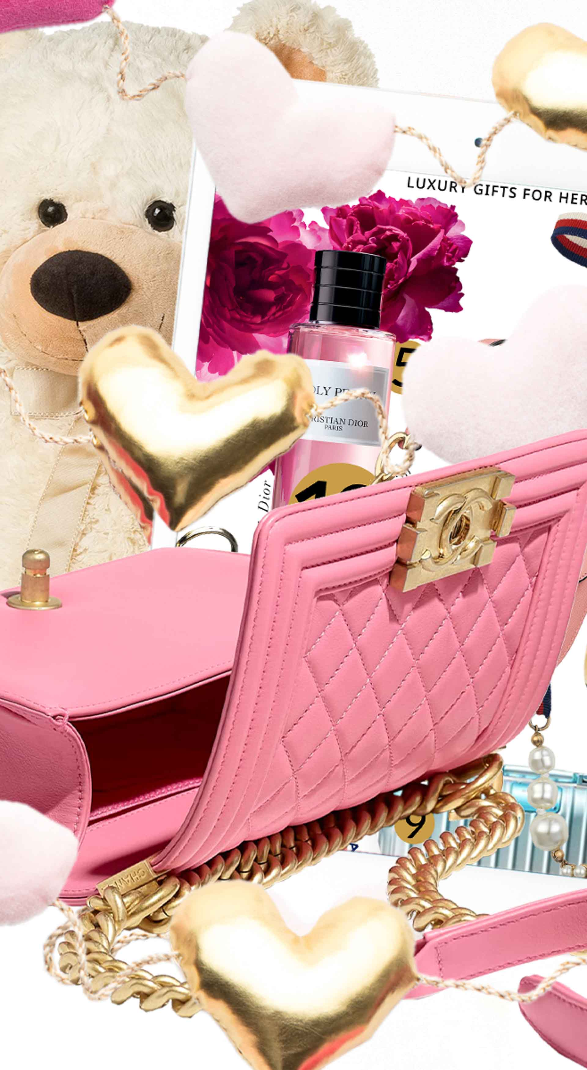 Brunette from Wall Street What to do if you forgot to buy her a present Chanel pink flap bag