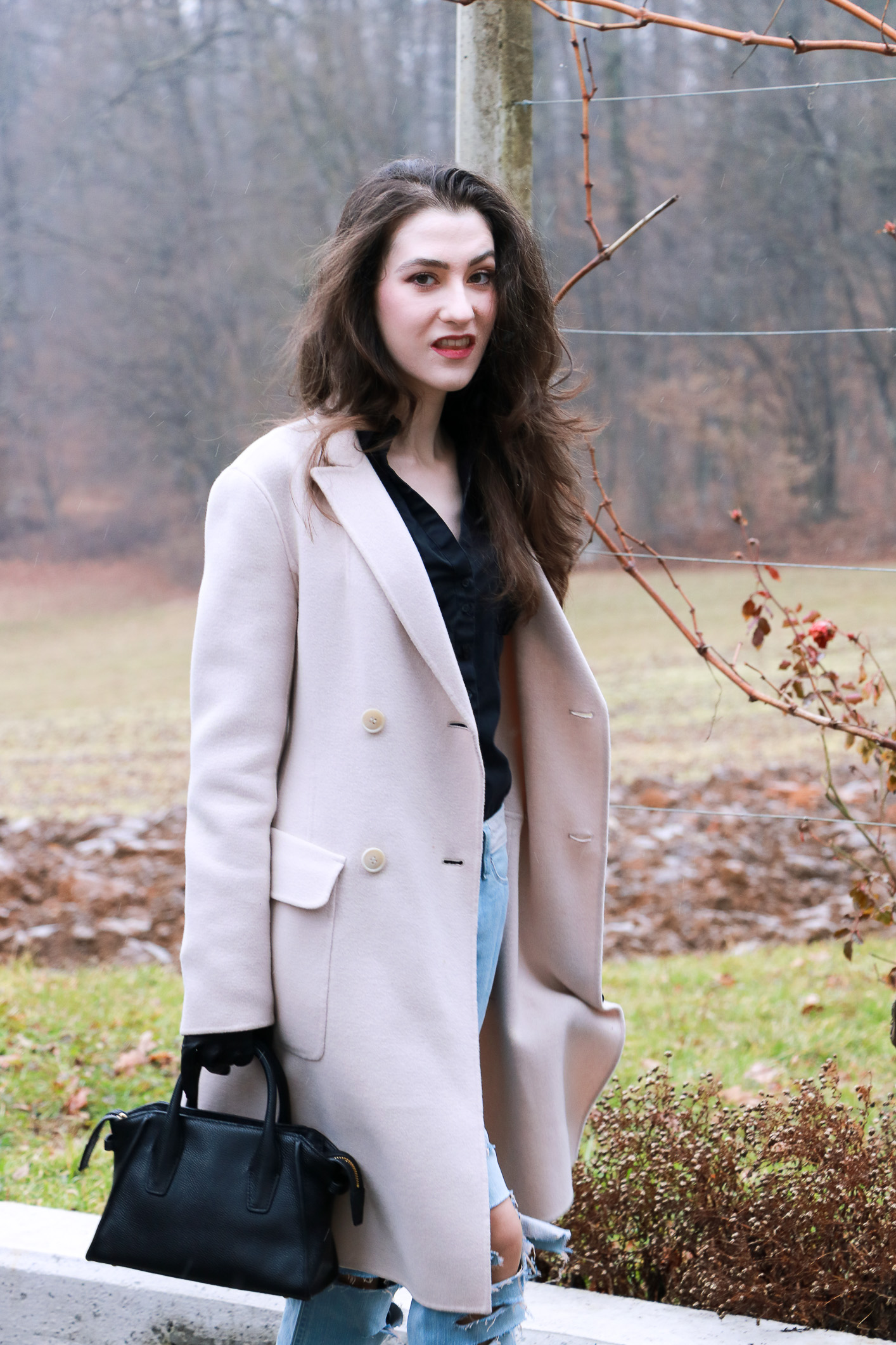 Fashion blogger Veronika Lipar of Brunette From Wall Street sharing what to wear this Friday