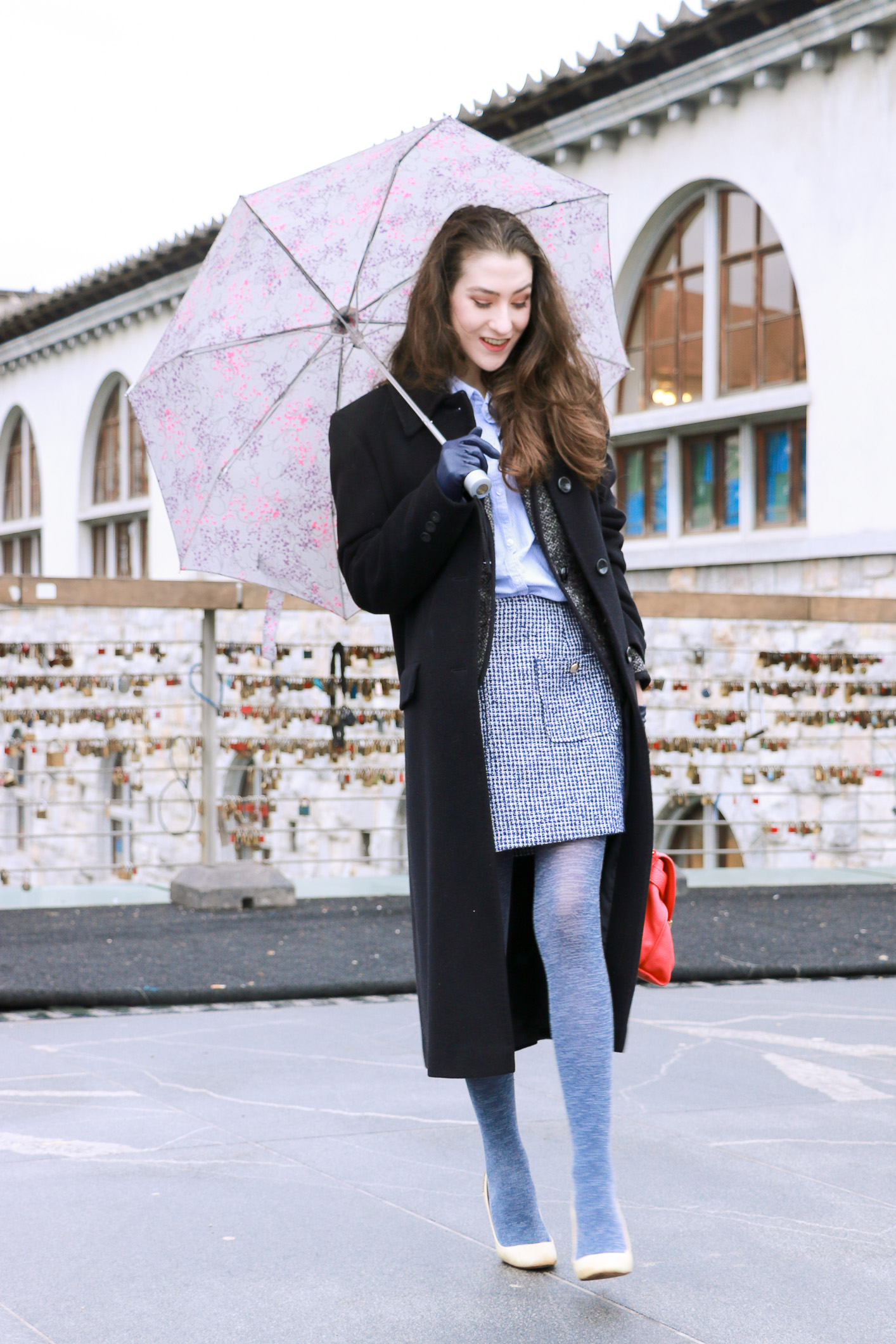 Fashion blogger Veronika Lipar of Brunette From Wall Street sharing how to wear the white shoes as a fashionista
