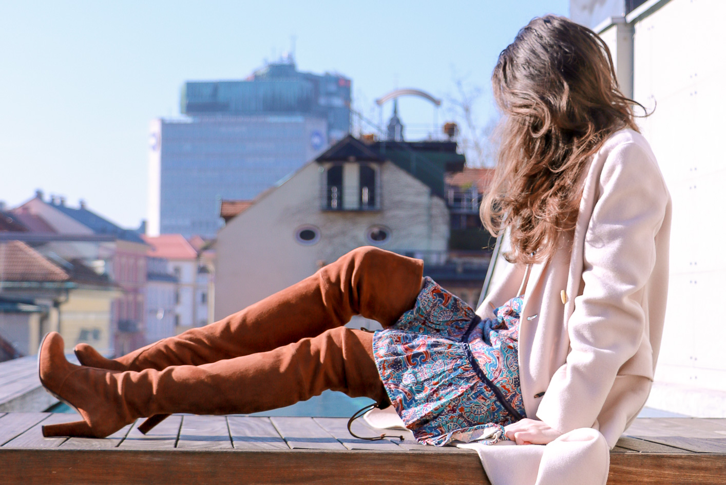 Fashion blogger Veronika Lipar of Brunette From Wall Street sharing her weekend chic boho style