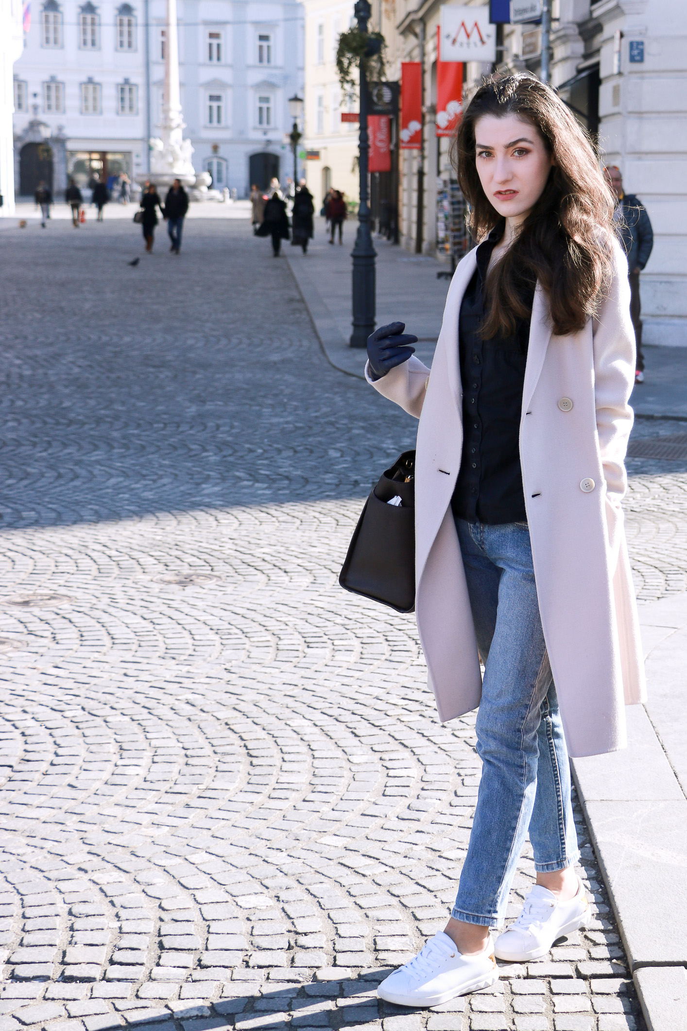 Fashion blogger Veronika Lipar of Brunette From Wall Street sharing her weekend chic casual style