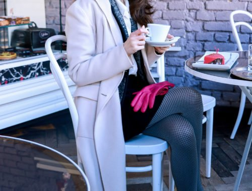 Fashion blogger Veronika Lipar of Brunette From Wall Street sharing what to wear to a romantic Date this Valentine's Day