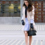 Fashion Blogger Veronika Lipar of Brunette from Wall Street sharing how to style his shirt and wear it as a shirt dress