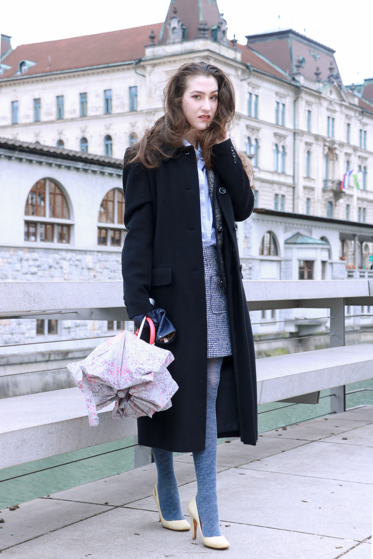 Fashion blogger Veronika Lipar of Brunette From Wall Street sharing how to wear the tweedy suit as a fashionista