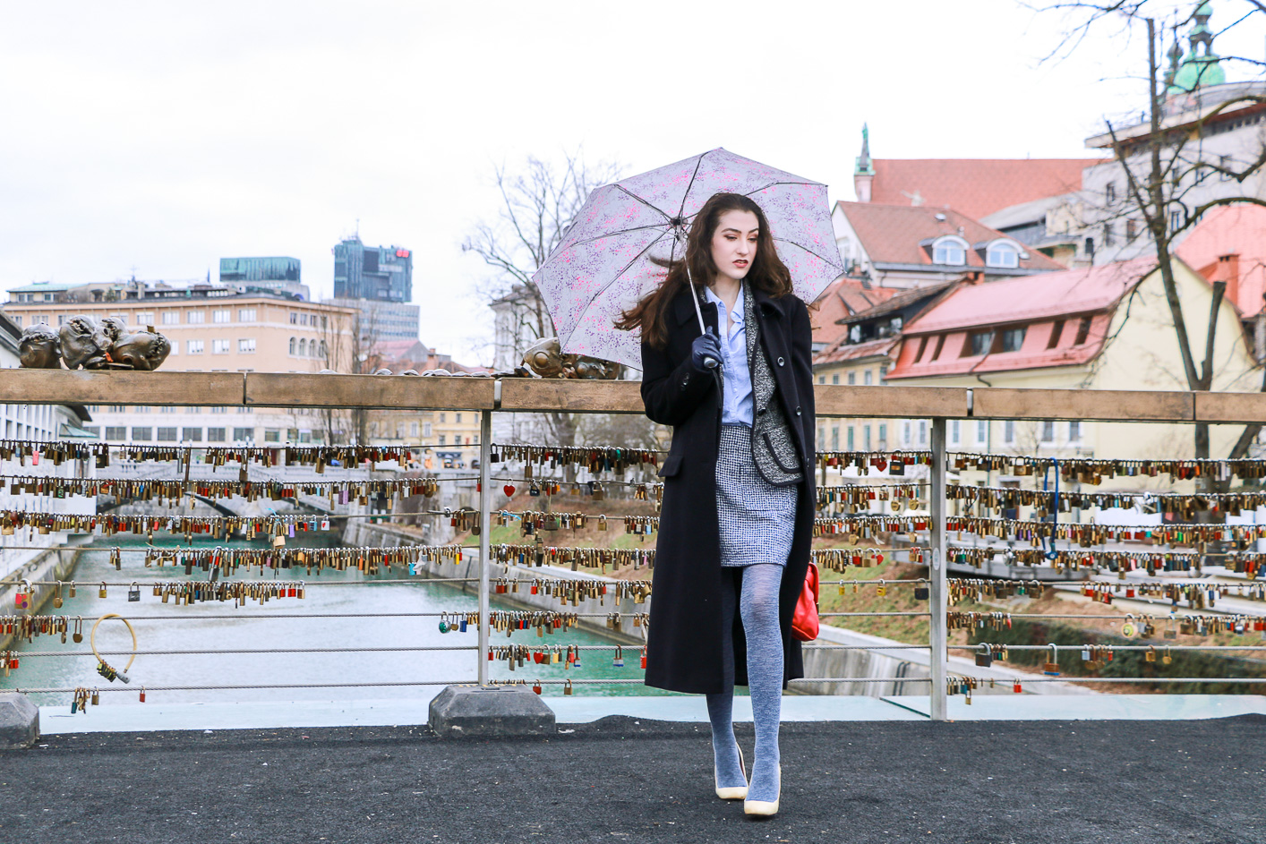 Fashion blogger Veronika Lipar of Brunette From Wall Street sharing how to style a tweed suit as a fashionista