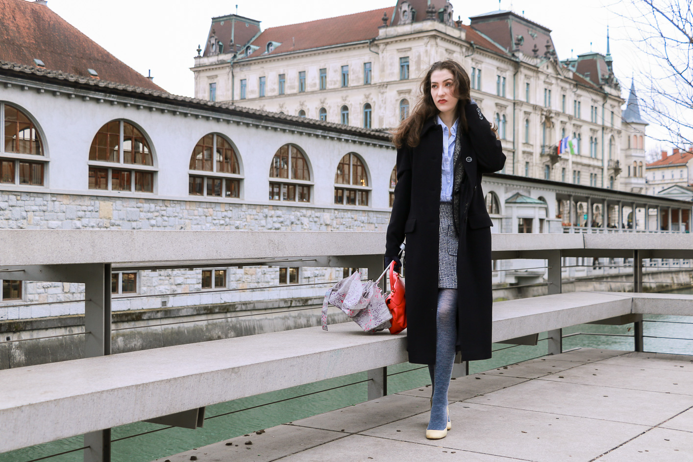 Fashion blogger Veronika Lipar of Brunette From Wall Street sharing how to wear a tweed suit as a fashionista