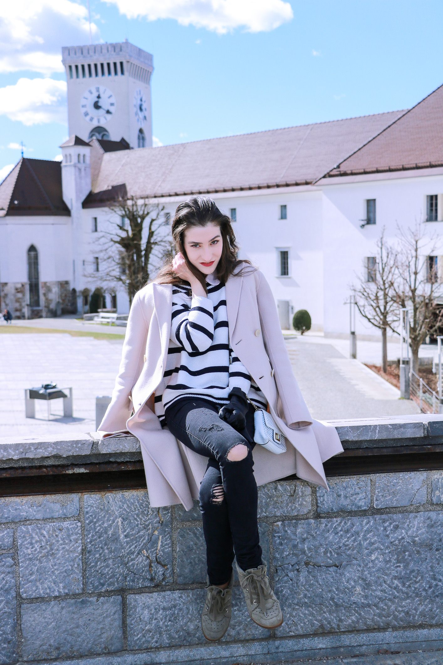 Fashion blogger Veronika Lipar of Brunette From Wall Street sharing how to be a fashionable tourist