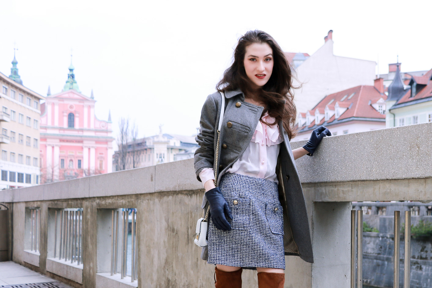 Fashion blogger Veronika Lipar of Brunette From Wall Street sharing how to style 5 different colours in one outfit