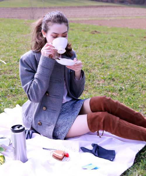 Fashion blogger Veronika Lipar of Brunette From Wall Street sharing what to wear to the first picnic of the season
