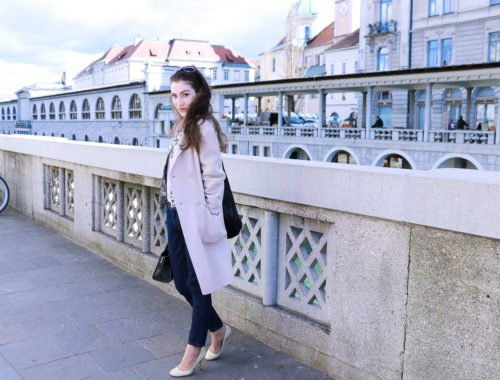 Fashion blogger Veronika Lipar of Brunette From Wall Street on how to wear layers of clothes this spring