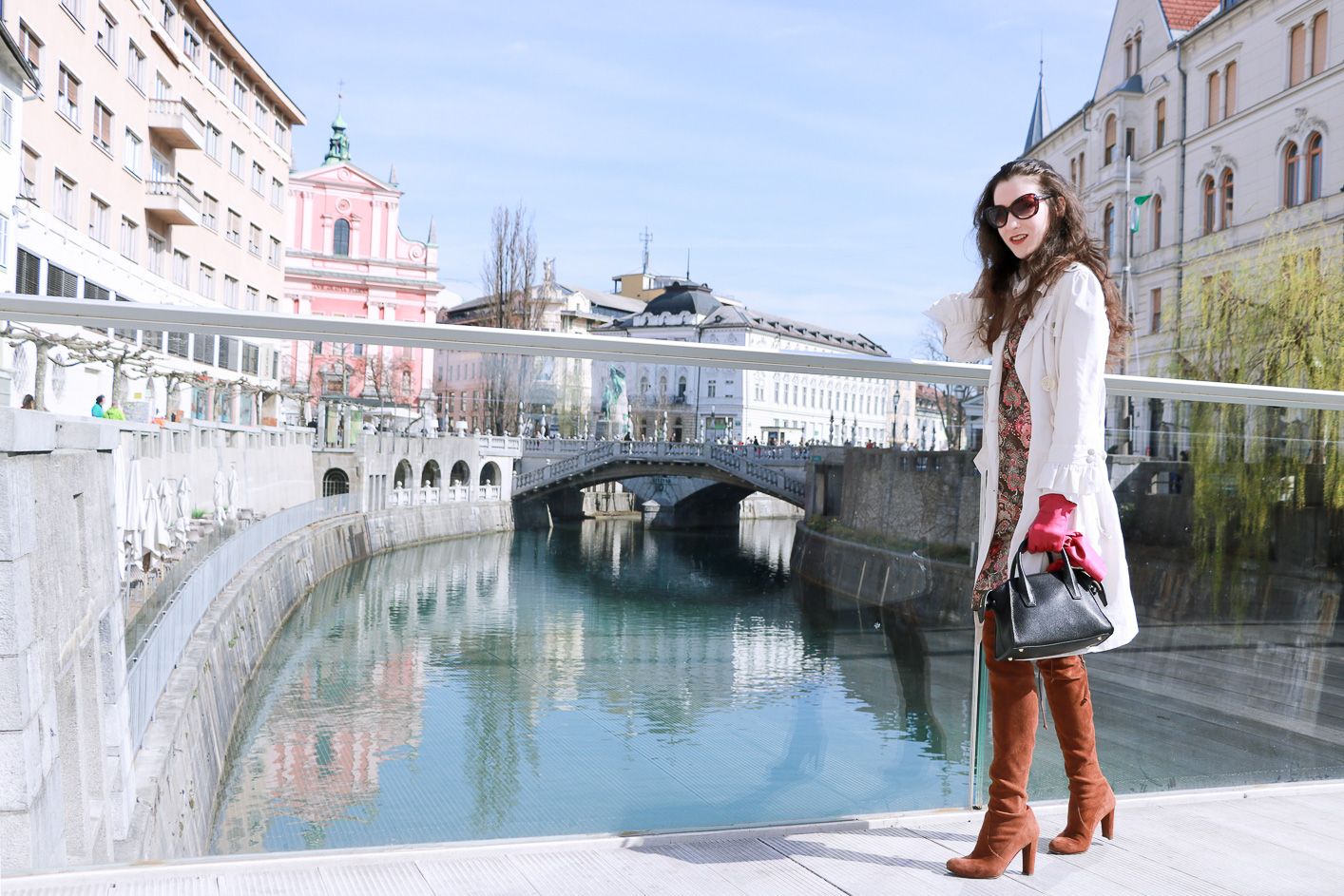 Fashion blogger Veronika Lipar of Brunette From Wall Street sharing how to style chic boho dress this spring