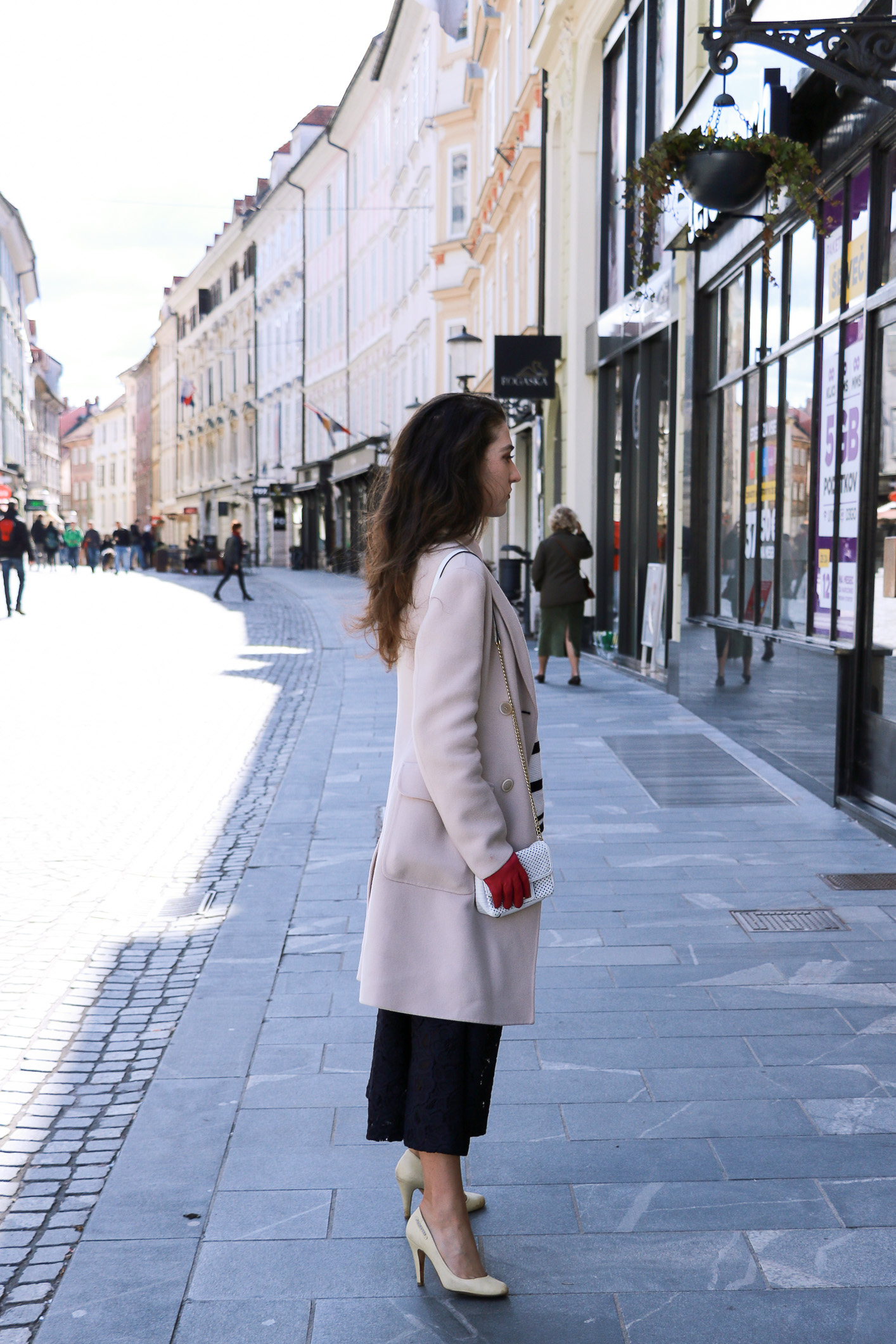 Fashion blogger Veronika Lipar of Brunette From Wall Street on how to wear stripes and lace