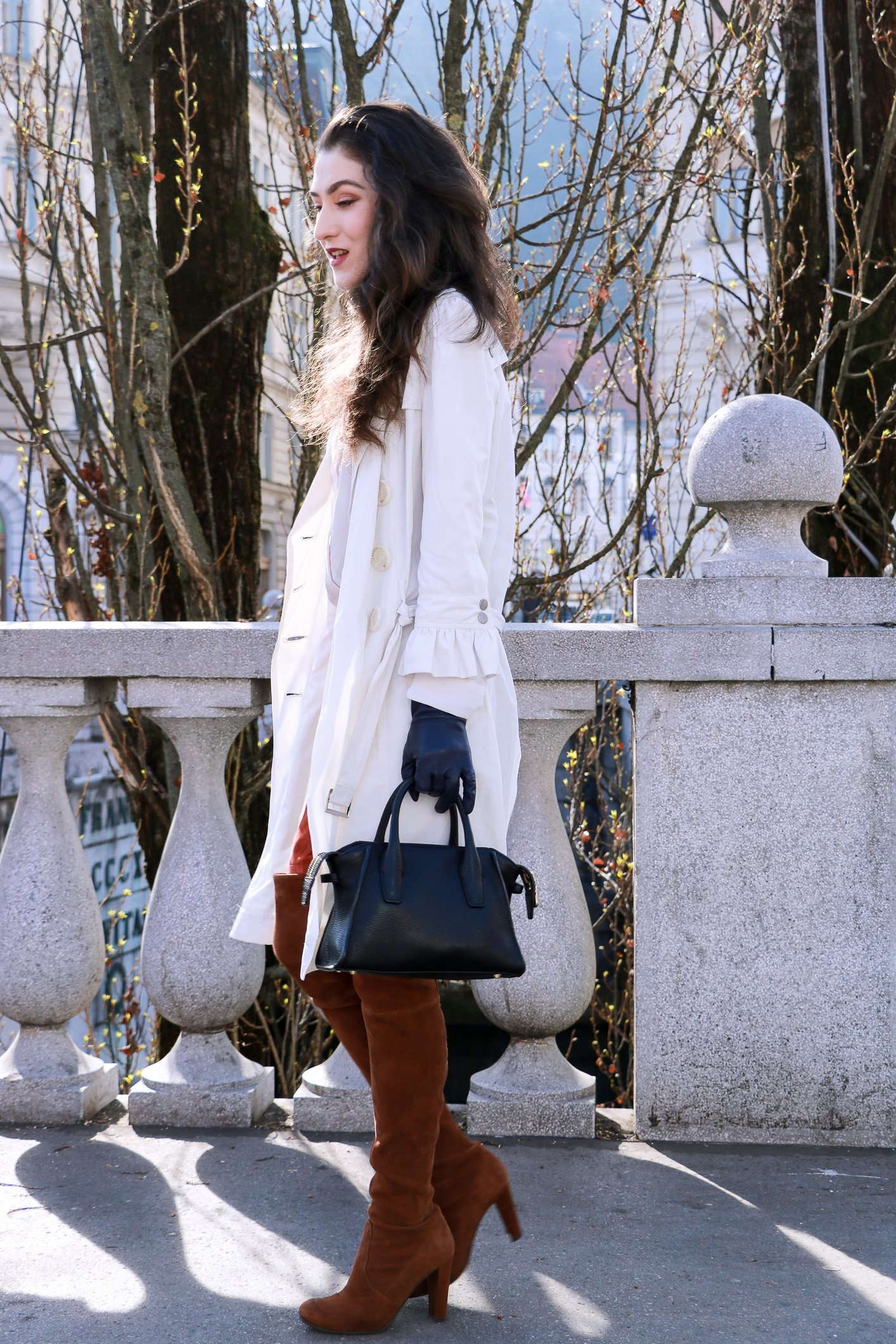 Fashion blogger Veronika Lipar of Brunette From Wall Street on how to wear robe on the street this spring