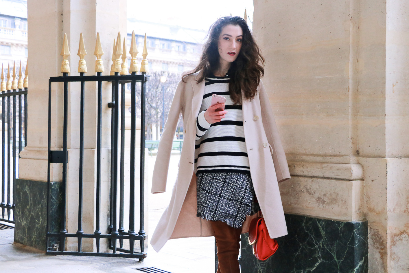 Fashion blogger Veronika Lipar of Brunette From Wall Street on how to style striped sweater like a Fashion Blogger