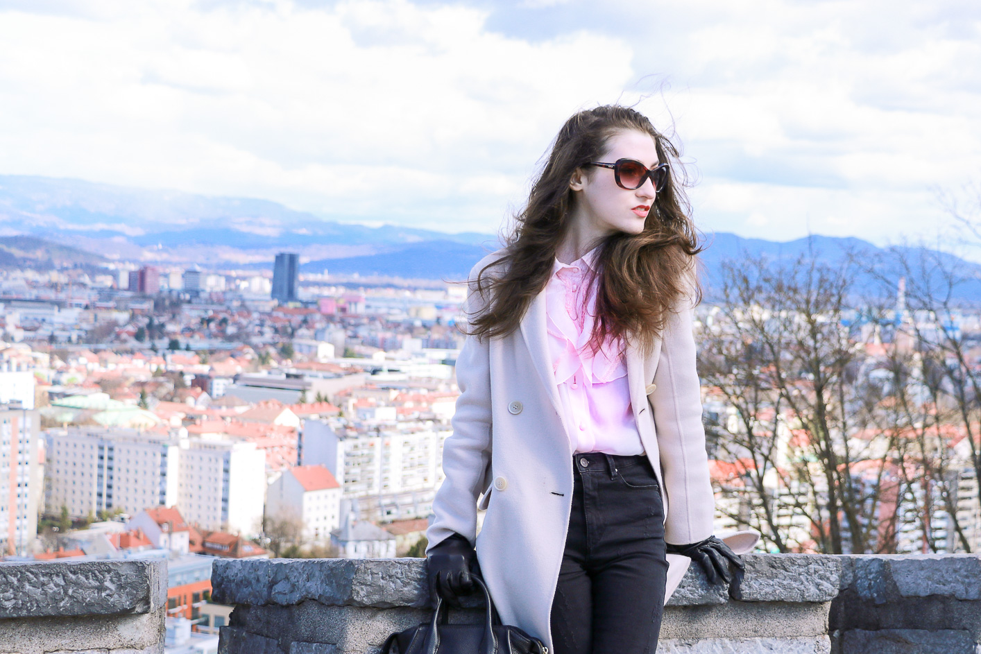 Fashion blogger Veronika Lipar of Brunette From Wall Street on how to style pink clothes this spring