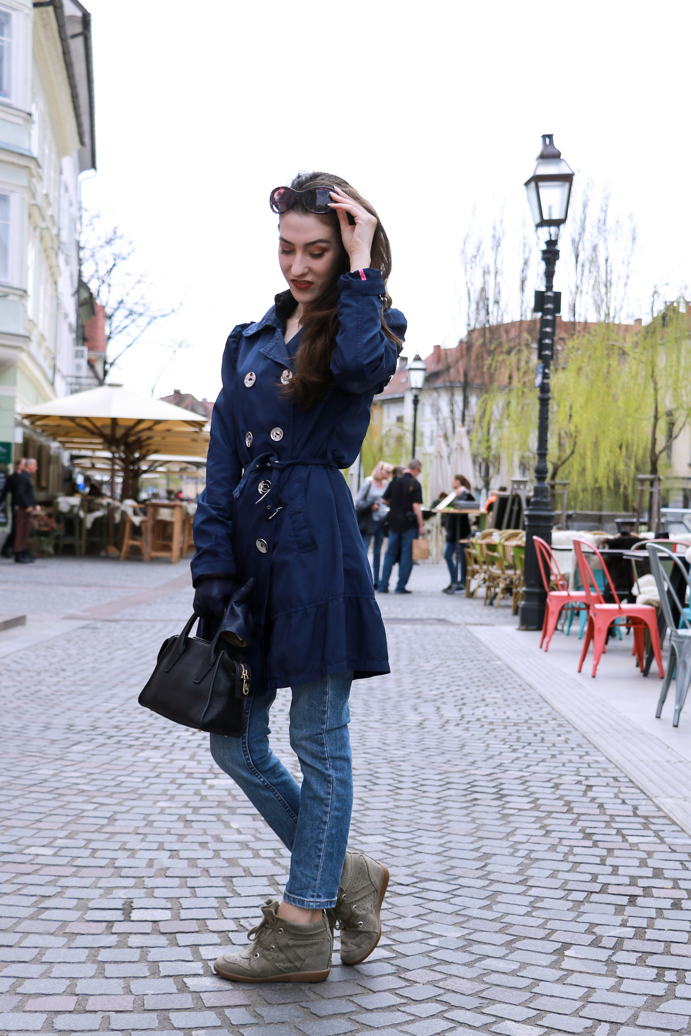 Fashion blogger Veronika Lipar of Brunette From Wall Street on how to wear ruffles to look chic not girly