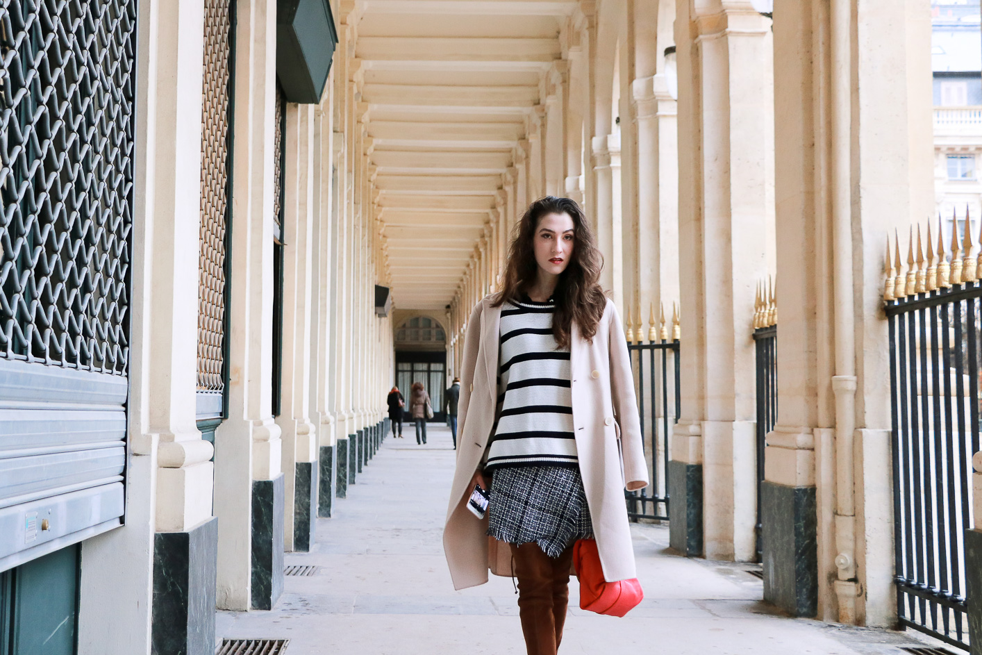 Fashion blogger Veronika Lipar of Brunette From Wall Street on how to style striped crop top like a French Woman