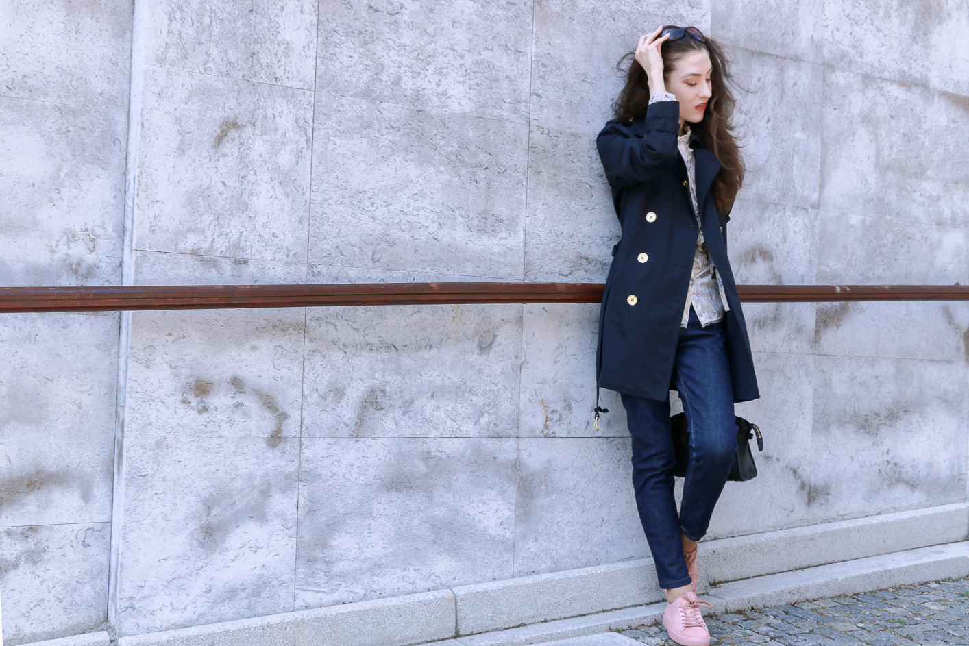 Fashion blogger Veronika Lipar of Brunette From Wall Street sharing Friday casual chic business style