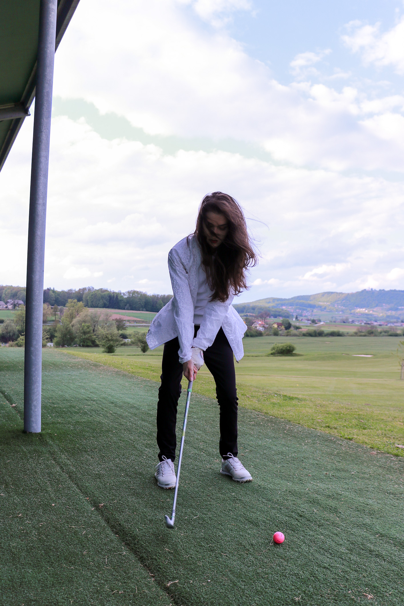 Fashion blogger Veronika Lipar of Brunette From Wall Street on golf fashion 2017