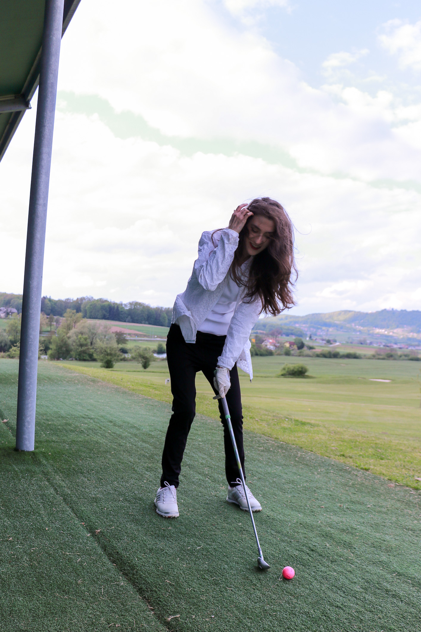 Fashion blogger Veronika Lipar of Brunette From Wall Street sharing where to get the most fashionable golf clothes