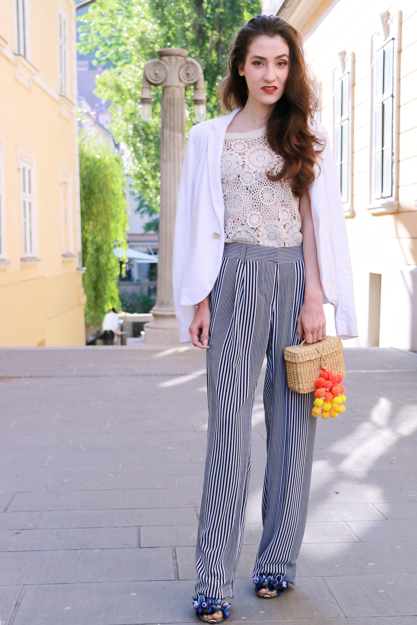 Fashion blogger Veronika Lipar of Brunette From Wall Street on how to wear same outfit to the office, on the streets, to the beach party in the evening, and in the morning after party
