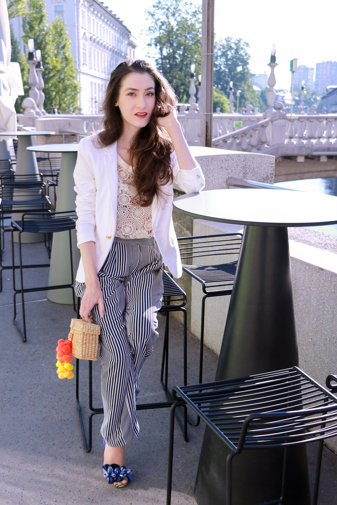 Fashion blogger Veronika Lipar of Brunette From Wall Street sharing how to mix and match different styles in one outfit this summer