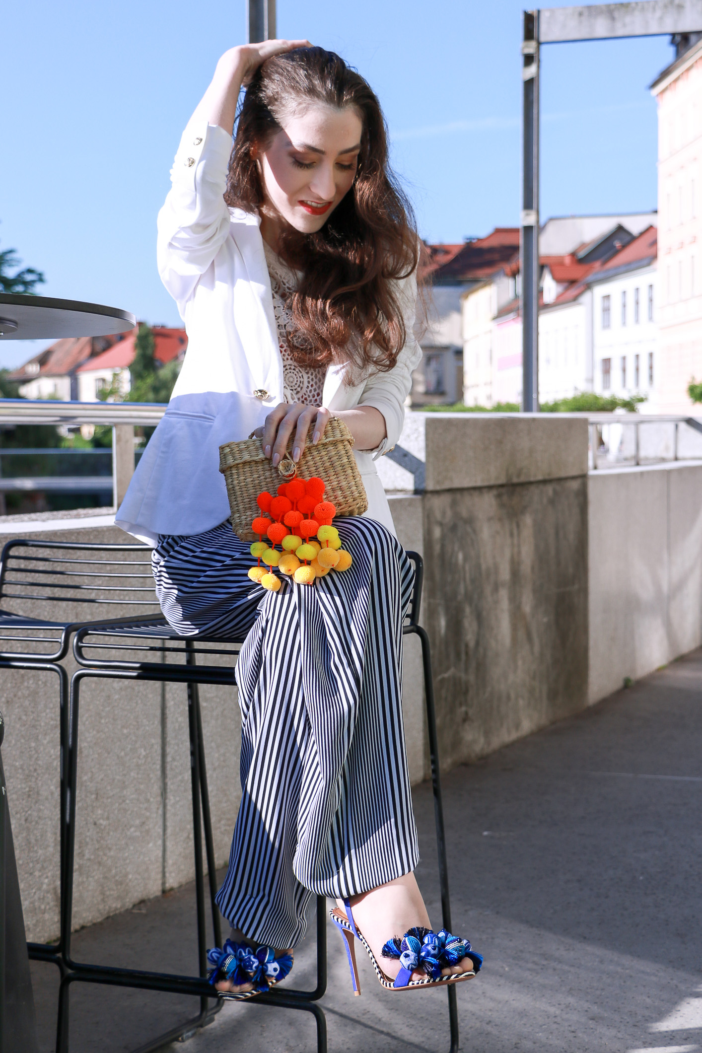Fashion blogger Veronika Lipar of Brunette From Wall Street sharing her chic spring summer style