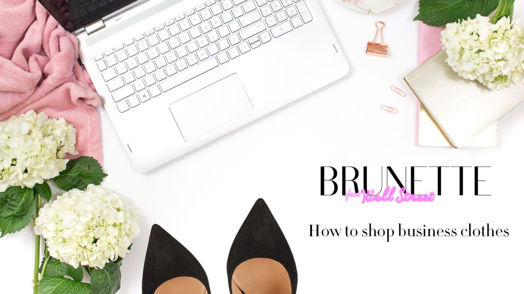 Fashion blogger Veronika Lipar of Brunette From Wall Street on how to buy first business clothes to wear to the first job