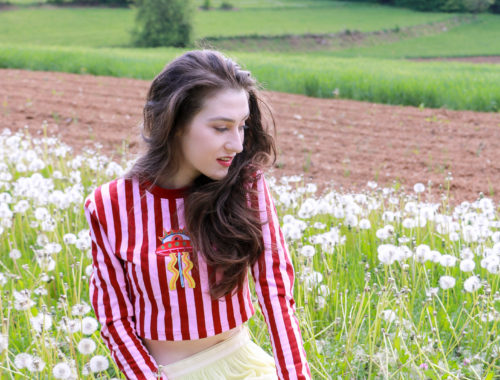 Fashion blogger Veronika Lipar of Brunette From Wall Street sharing what to wear on May Day for the Spring Festival