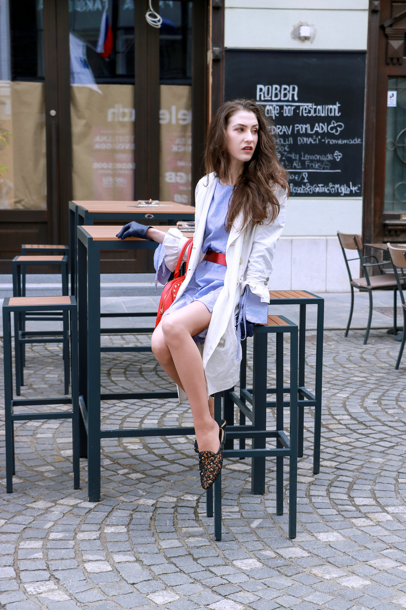 Fashion blogger Veronika Lipar of Brunette From Wall Street sharing how to look fashionable in flats