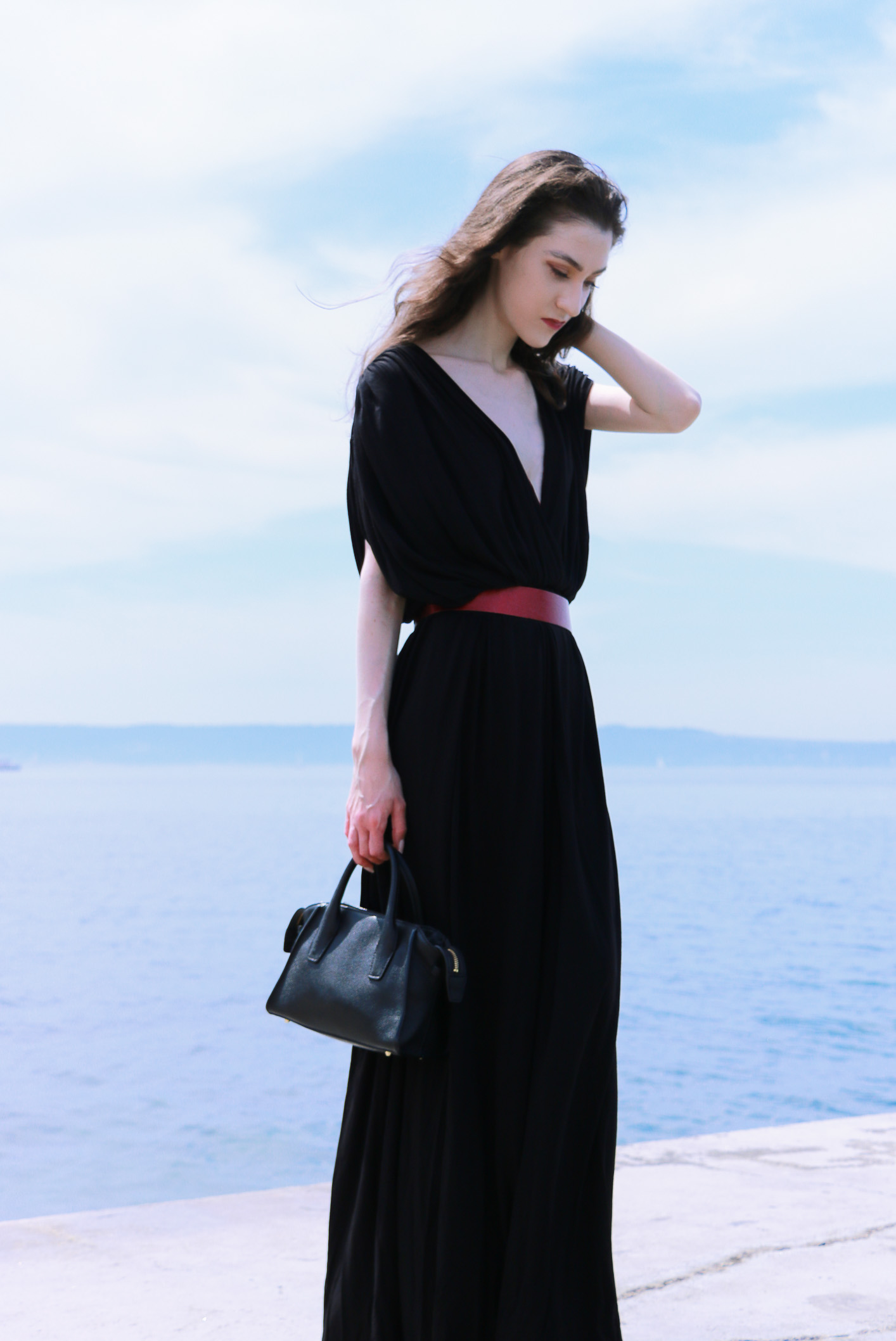 Fashion blogger Veronika Lipar of Brunette From Wall Street sharing how to dress up up to black tie dress code