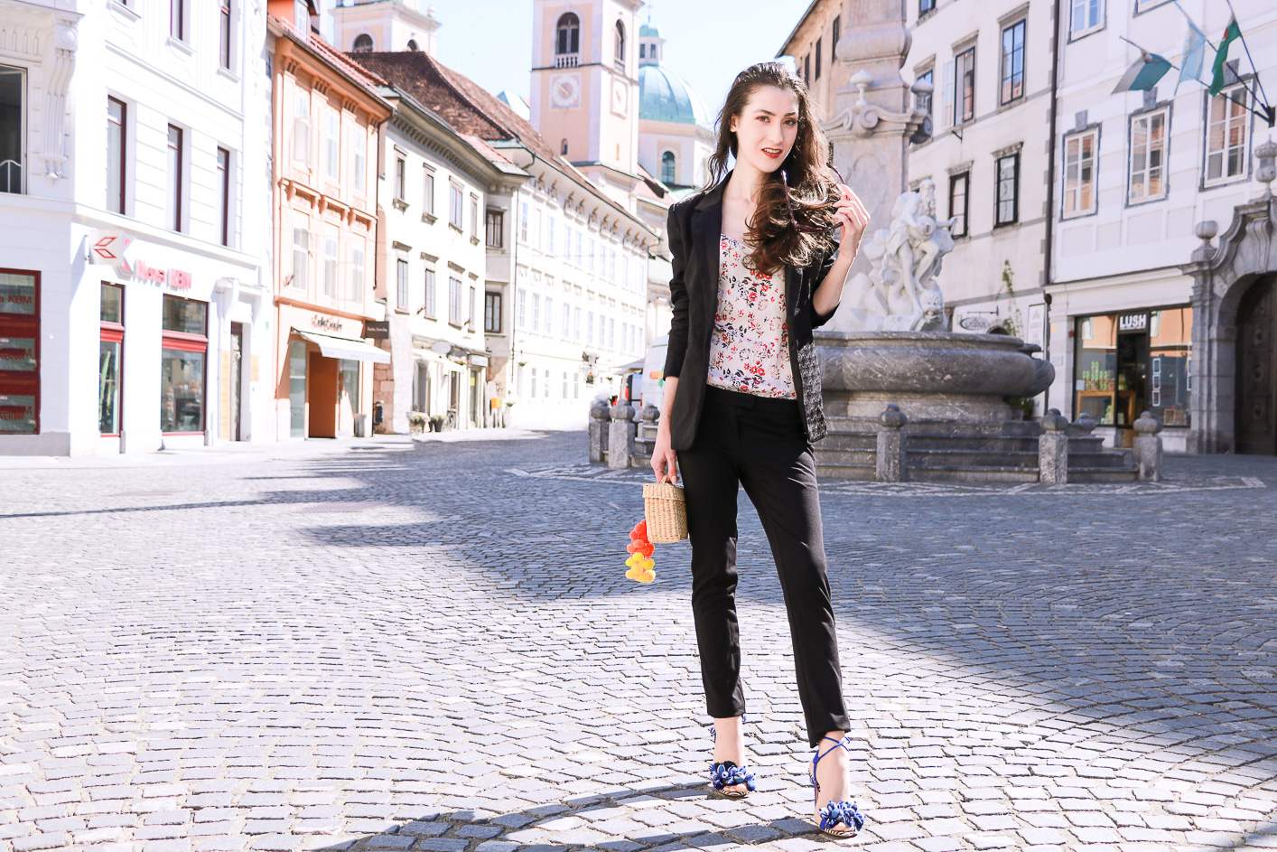 Fashion blogger Veronika Lipar of Brunette From Wall Street sharing fashionable business casual look