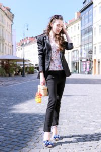 Fashion blogger Veronika Lipar of Brunette From Wall Street sharing what to wear to the cocktail party this summer