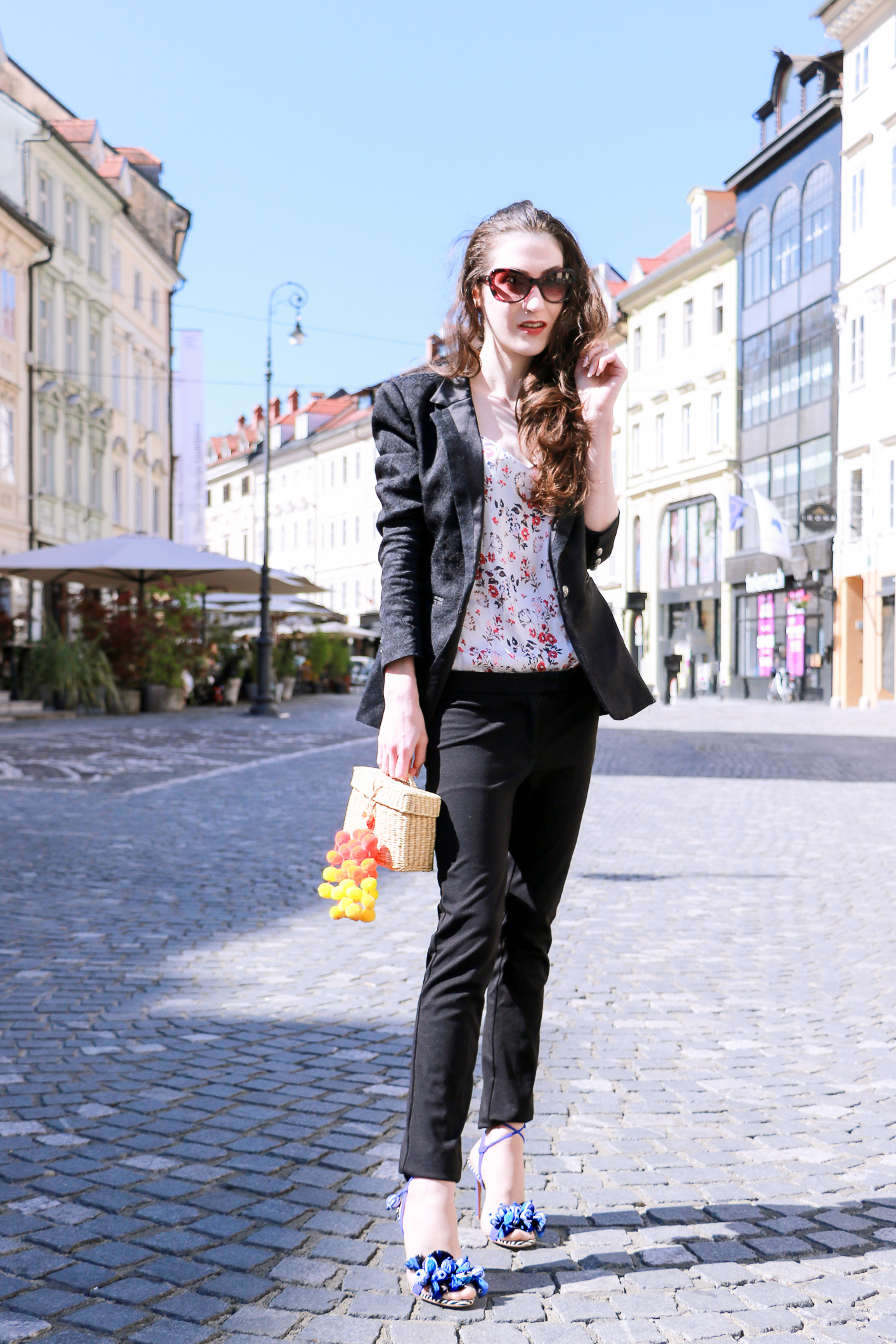 Fashion blogger Veronika Lipar of Brunette From Wall Street sharing what to wear to work this season to look fashionable