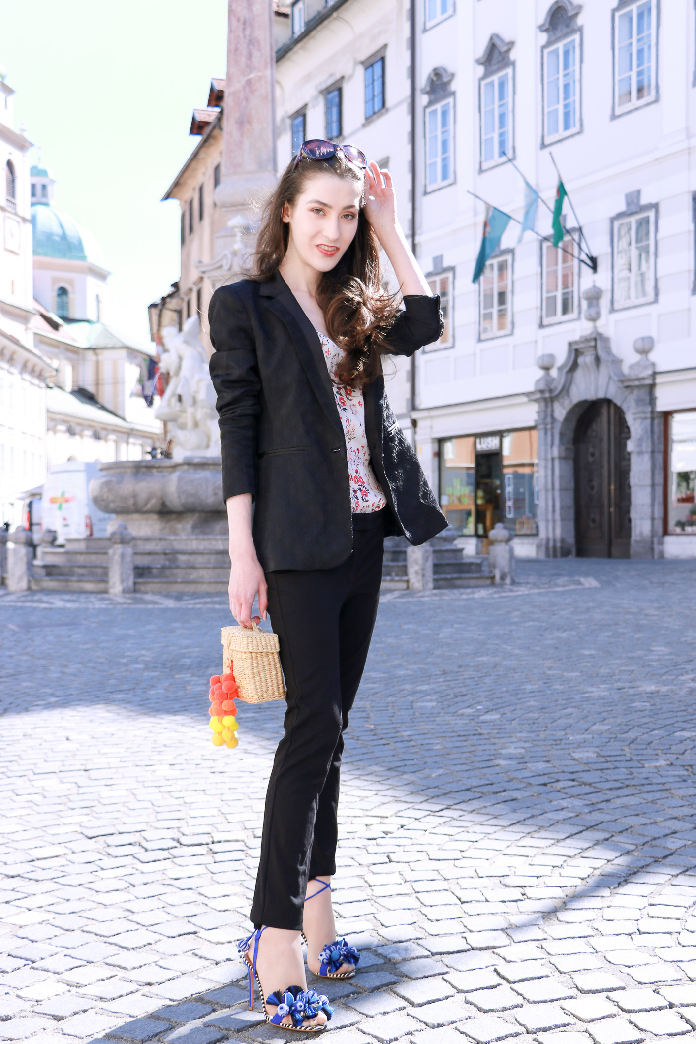 Fashion blogger Veronika Lipar of Brunette From Wall Street on white suits and tasselled sandals