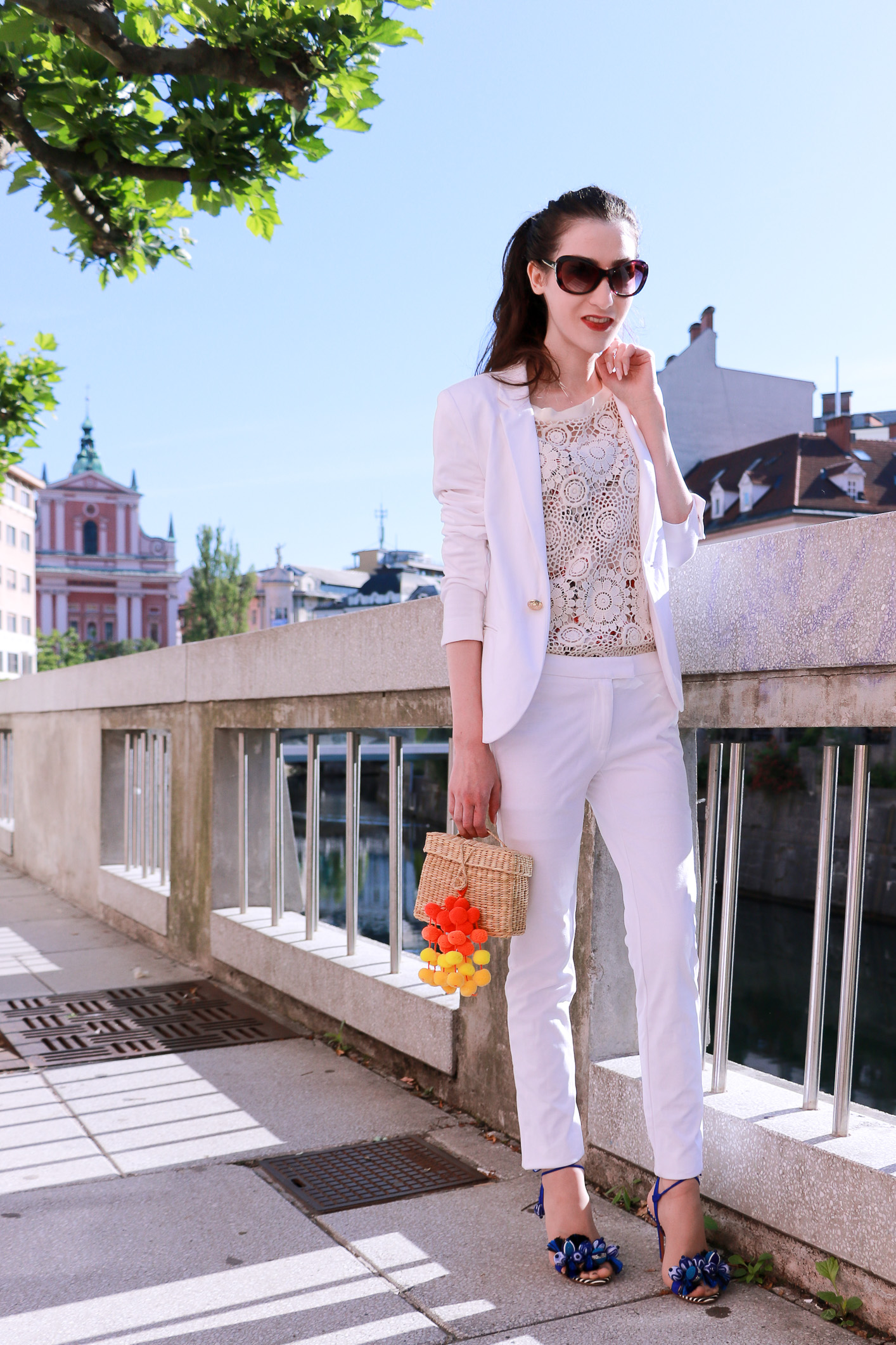 Fashion blogger Veronika Lipar of Brunette From Wall Street on modern business outfit