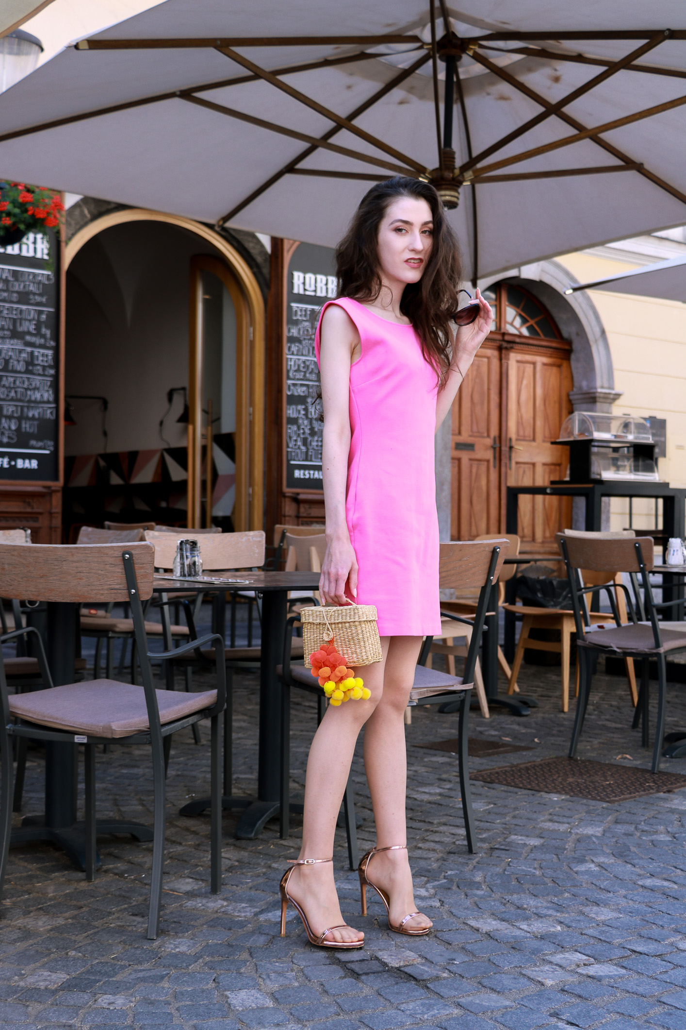 cocktail party time in pink cocktail dress-5 | Brunette from Wall Street