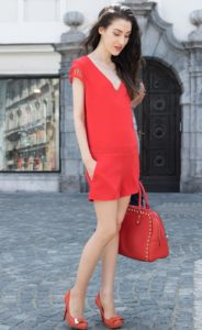 Fashion Blogger Veronika Lipar of Brunette from Wall Street on how to wear red
