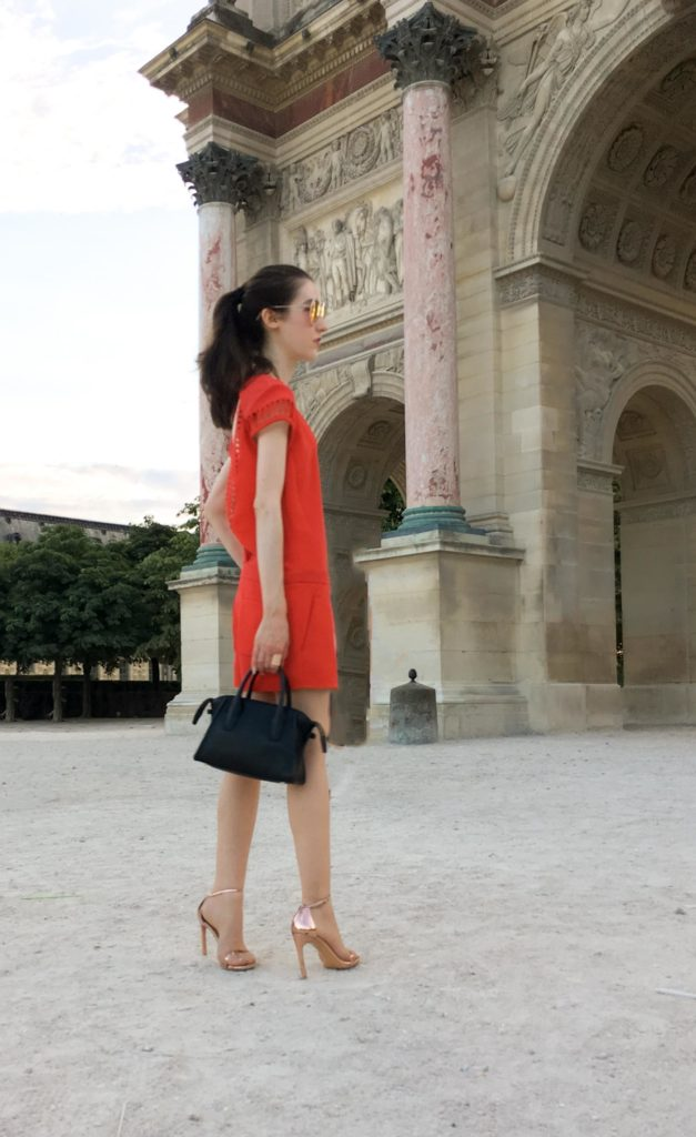 Fashion Blogger Veronika Lipar of Brunette from Wall Street Paris Haute Couture Week red outfit