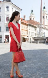 Fashion Blogger Veronika Lipar of Brunette from Wall Street on how to wear all over red