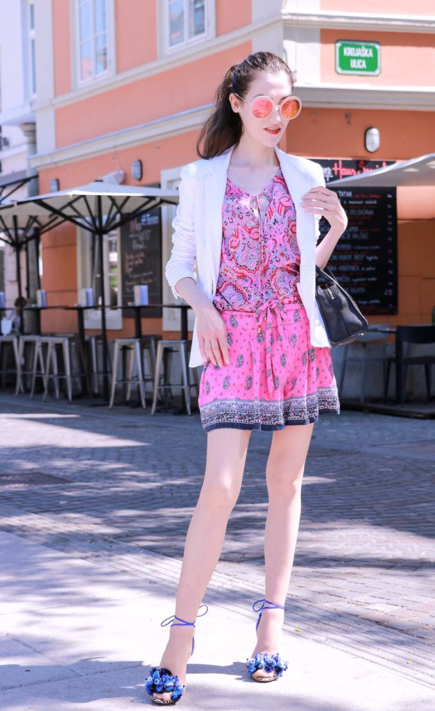 Fashion Blogger Veronika Lipar of Brunette from Wall Street on how to wear print on print like a fashionista