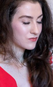 Fashion Blogger Veronika Lipar of Brunette from Wall Street wearing nude natural glowing makeup