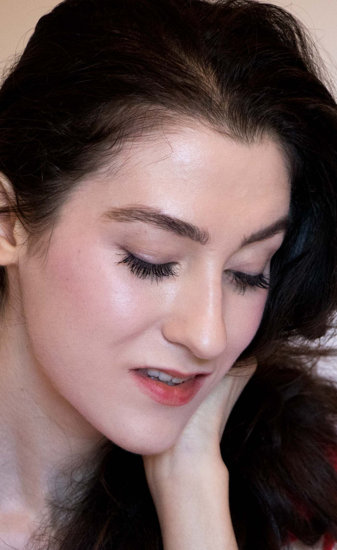 Fashion Blogger Veronika Lipar of Brunette from Wall Street wearing oil foundation mixture for a glowing skin