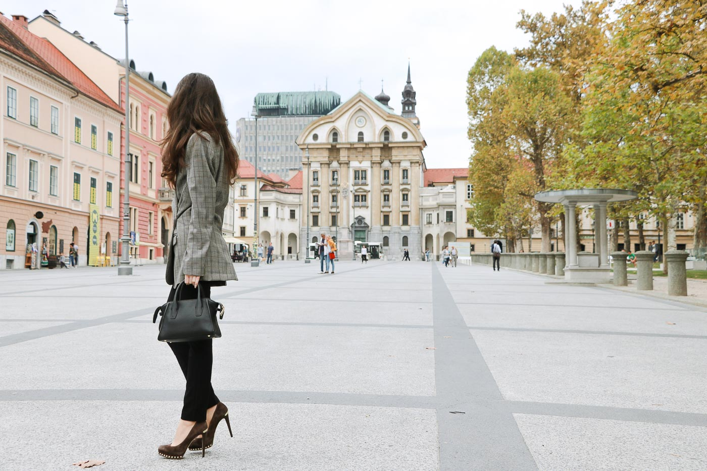 Fashion Blogger Veronika Lipar of Brunette from Wall Street on how to wear suit this fall