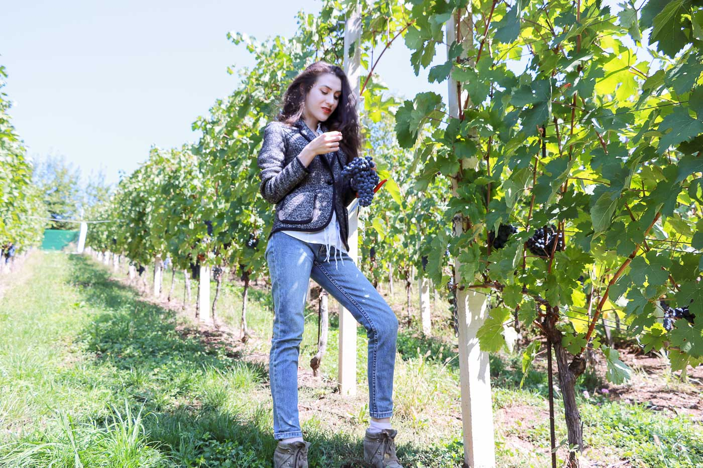 Fashion Blogger Veronika Lipar of Brunette from Wall Street on how to dress for the grape harvest this autumn