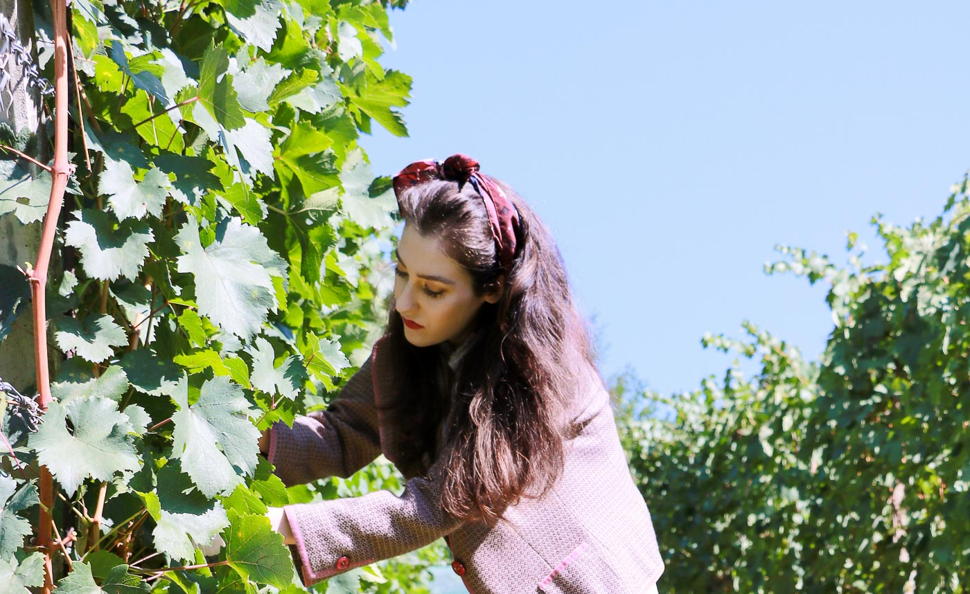 Fashion Blogger Veronika Lipar of Brunette from Wall Street on what to wear to the grape harvest this fall