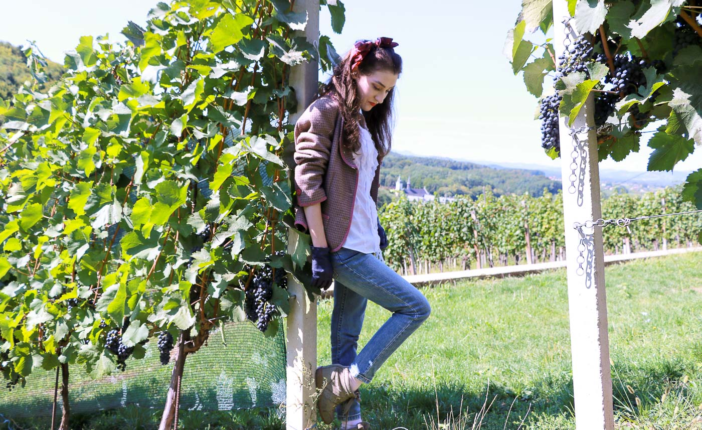 Fashion Blogger Veronika Lipar of Brunette from Wall Street on fall countryside fashion