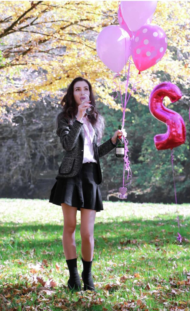 Fashion Blogger Veronika Lipar of Brunette from Wall Street celebrating her birthday