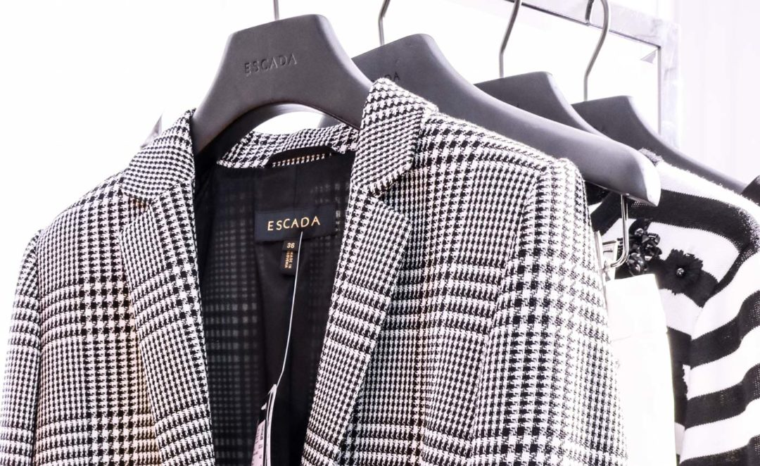 Escada Black and White Checked Blazer
